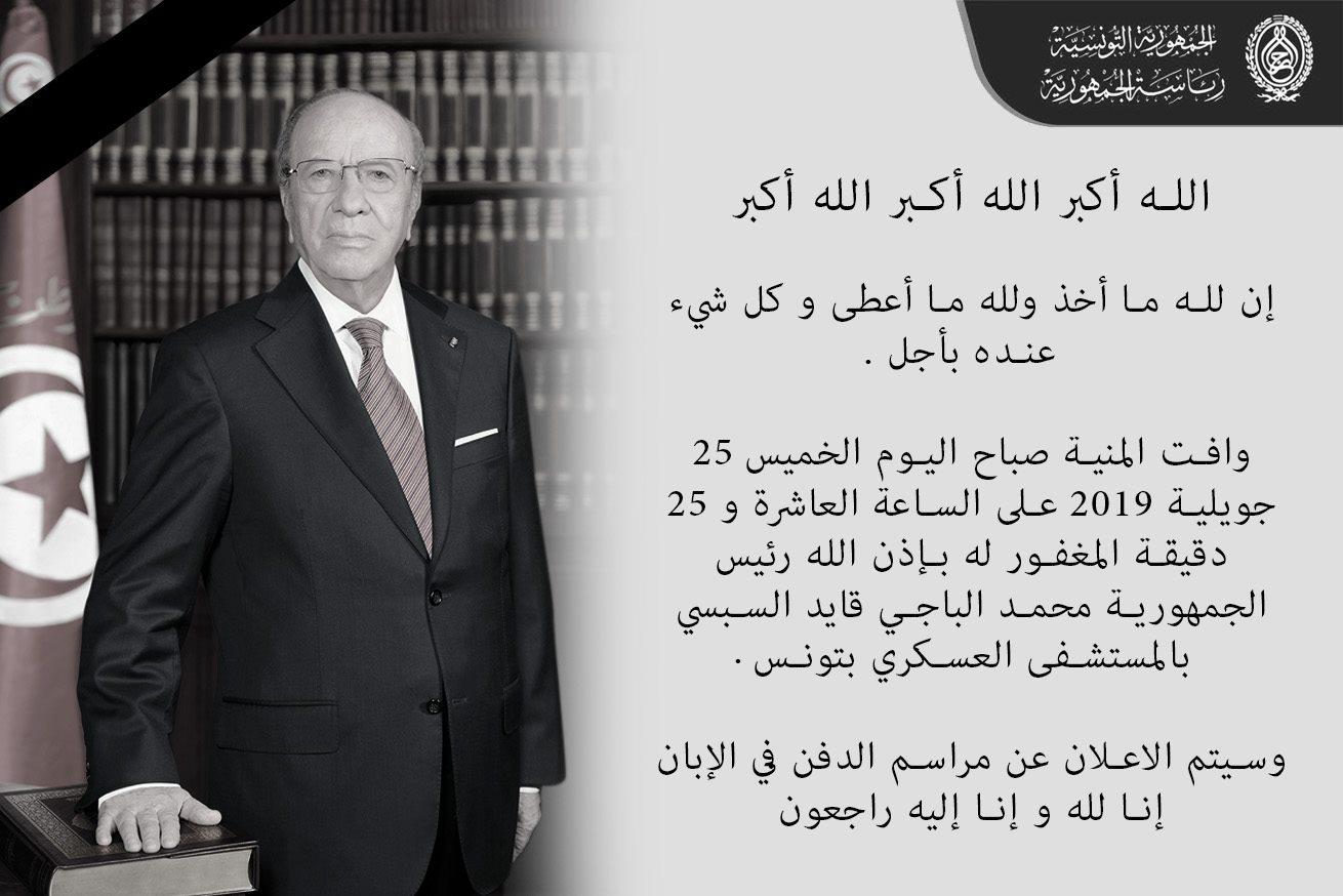 وفاة رئيس الجمهورية